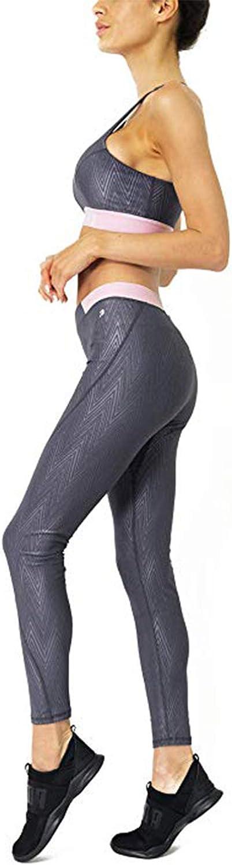 Savoy Active River Womens 2 Piece Sports Bra and Legging Set - Yoga Pants w/Racerback Crop Bra top