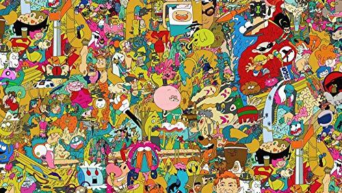Decorsy Rompecabezas Puzzle 1000 Piezas Adultos Dibujos Animados De Hora De Aventura Colección Moderna De Decoración del Hogar