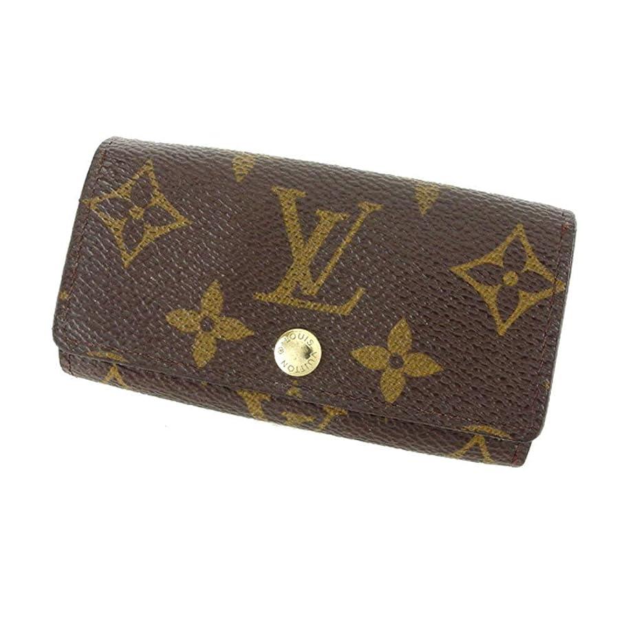 眠いです手のひら拍手(ルイ ヴィトン) Louis Vuitton キーケース 4連キーケース ブラウン ベージュ ゴールド モノグラム レディース メンズ C3447