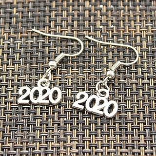 Mct12 - New Handmade letter 2019 2020 year 9x13mm Pendants DIY Earrings For Women Party