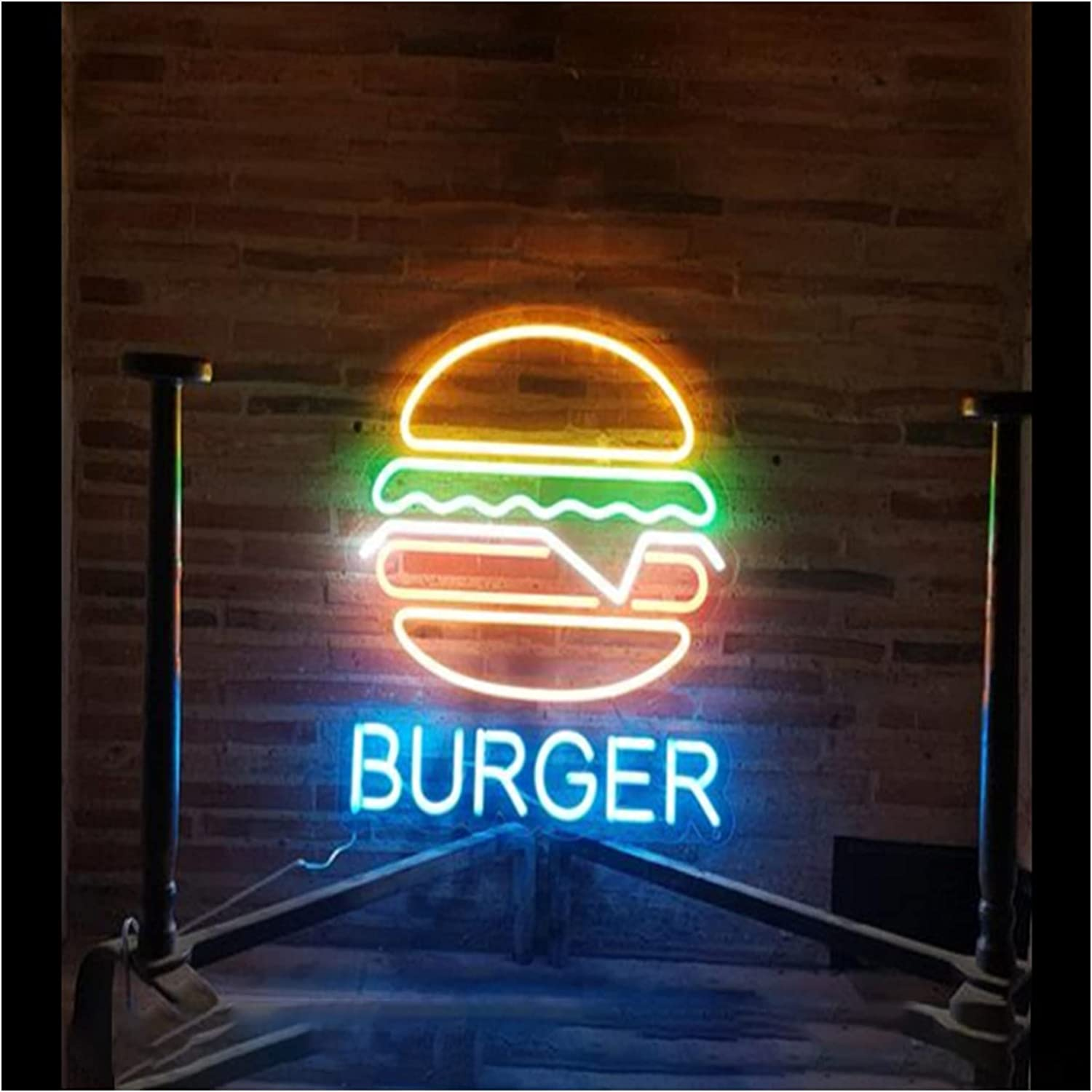 Max 90% OFF Custom Hamburgs Neon Signs with Dimmer Max 73% OFF Switch Adjust Brightness