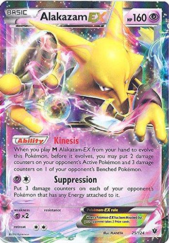 Pokemon - Alakazam-EX (25/124) - XY Fates Collide - Holo