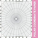 Polar Coordinate Paper: Polar Sketchbook, 8.5' x 8,5', Ruled Large Grid Polar Graph Paper Notebook Journal For All Sketches And Geometric ... Thanksgiving, Size 100 Pages. (Series 21)