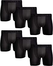 AND1 Men's High Performance Compression Boxer Briefs Active Underwear (6 Pack)
