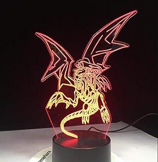 Tabla Lámpara De Escritorio Pokemon Go Mimikyu Ho-Oh Purrloin Magikarp Raikou Rayquaza Prinplup Politoed Lugia Cartoon 3D Lamp 7 Color Led Decor Night Light@Pokemon Go Lamp 7_Cambio De 7 Colores