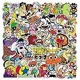 WYDML Dibujos Animados clásicos Doodle monopatín Impermeable Maleta de Viaje teléfono móvil Equipaje Pegatina Lindos Juguetes para niñas 50 Uds