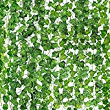 CEWOR 36pcs 236Ft Artificial Vines for Room Decor Fake Ivy Garland Artificial Ivy Leaves Hanging Vine Plant for Wall Decor Indoor Outdoor Decor
