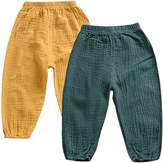 MODNTOGA Cute Toddler Kids Baby Boy Girl Casual Elastic Harem Long Pants Bloomers