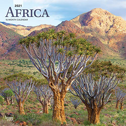 Africa 2021 12 x 12 Inch Monthly Square Wall Calendar, Travel Africa Madagascar Ethiopia Johannesburg Cape Verde