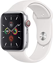 Apple Watch Series 5 GPS + Cellular - 44mm Silver Aluminum Case with White Sport Band