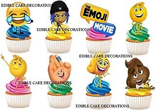 SMILEY Emoji 7.5 Premium Comestible Riz Carte Cake Topper peut personnalisé D3