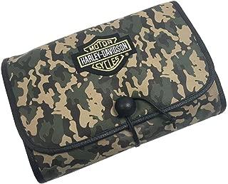 Harley-Davidson Bar & Shield Tri-Fold Camouflage Hanging Toiletry Kit 99813 CAMO