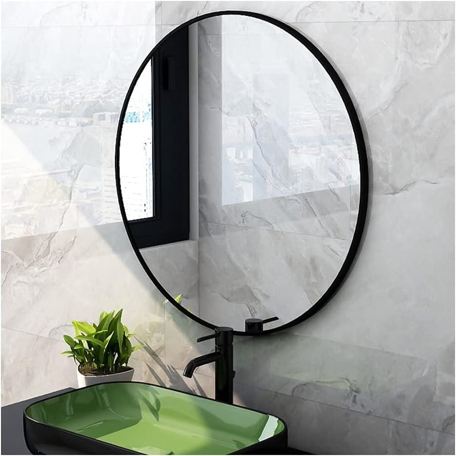 XIAOYUE Round Bathroom Wall Mirror Black Frame M Ranking TOP19 Aluminium Super sale Gold