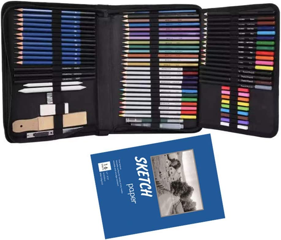 HELYZQ 74Pcs Drawing Sketch Pencils Set Eraser New products world's highest quality popular Pencil Cheap super special price A Charcoal