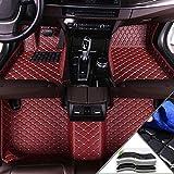 Handao-US Alfombrillas en Velour para BMW 5 Series Sedan F10 F11 E34 E39 E60 E61 F07 G30 520i 525i 528i 530i 535i 540i 550i 520d 530d 2010-2013 Alfombrillas de Coche Vino Rojo