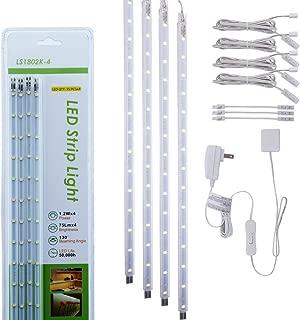Set of 4 LED Light Bar Kit for Display Cabinet -White