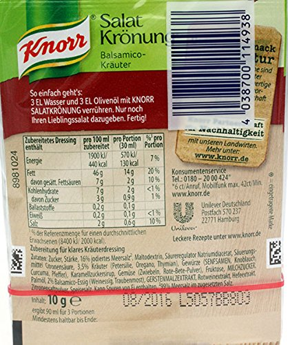 Knorr Balsamico-Krauter salad Dressing -5 pcs