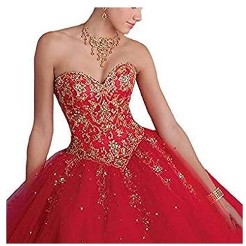 Red Quinceanera Dress Amazon Com
