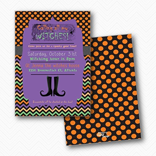 Calling all my witches Halloween Party Invitations | Envelopes Included