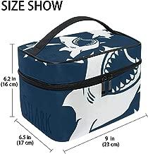 Buy Stylish Modern Minimalist Atmospheric Beautifu Danger Shark Print Large Cosmetic Bag Travel Makeup Organizer Case Holder For Women Girls Toiletry Bag,23X17X16Cm Travel makeup storage box not to be