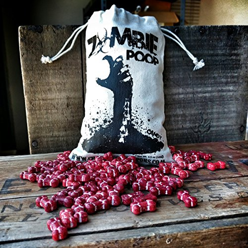 Zombie Poop - Candy Bones in Vintage Cotton Sack