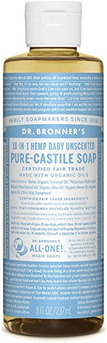 Dr. Bronner's - Pure-Castile Liquid Soap (Baby Unscented, 8 Ounce)