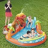 Cakunmik Piscina Inflable para niños, Piscina para niños Juguetes Piscina Plegable, Juego de césped al Aire Libre Play Fuente de Agua Aspersor Play Play Mat Baby Reming Pool
