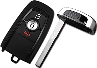 (M3N-A2C93142300) OEM for 2017-2018 Ford Ecosport Edge Fusion F-250 F-350 F-450 F-550 Super Duty 3 Buttons Programming Keyless Entry Smart Card Car Key Fob 315Mhz with HITAG Pro from WAKFLMS