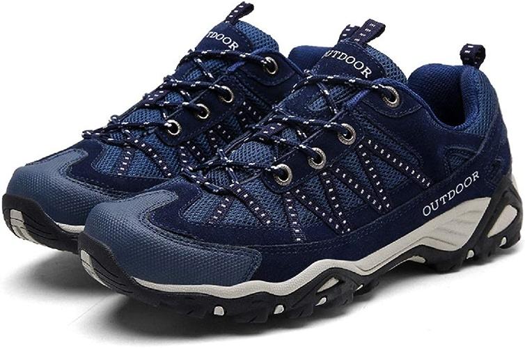 Sports de Plein air pour Hommes, Chaussures de randonnée, Cuir antidérapant, Outillage en Cuir Mat, Plateforme (Couleuré   As shown4, Taille   EU 39)