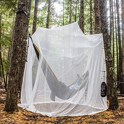 MEKKAPRO Ultra Large Mosquito Net with Carry Bag, Large 2 Openings Netting Curtains | Camping, Bedding, Patio | Carrying Pouch and Hanging Kit