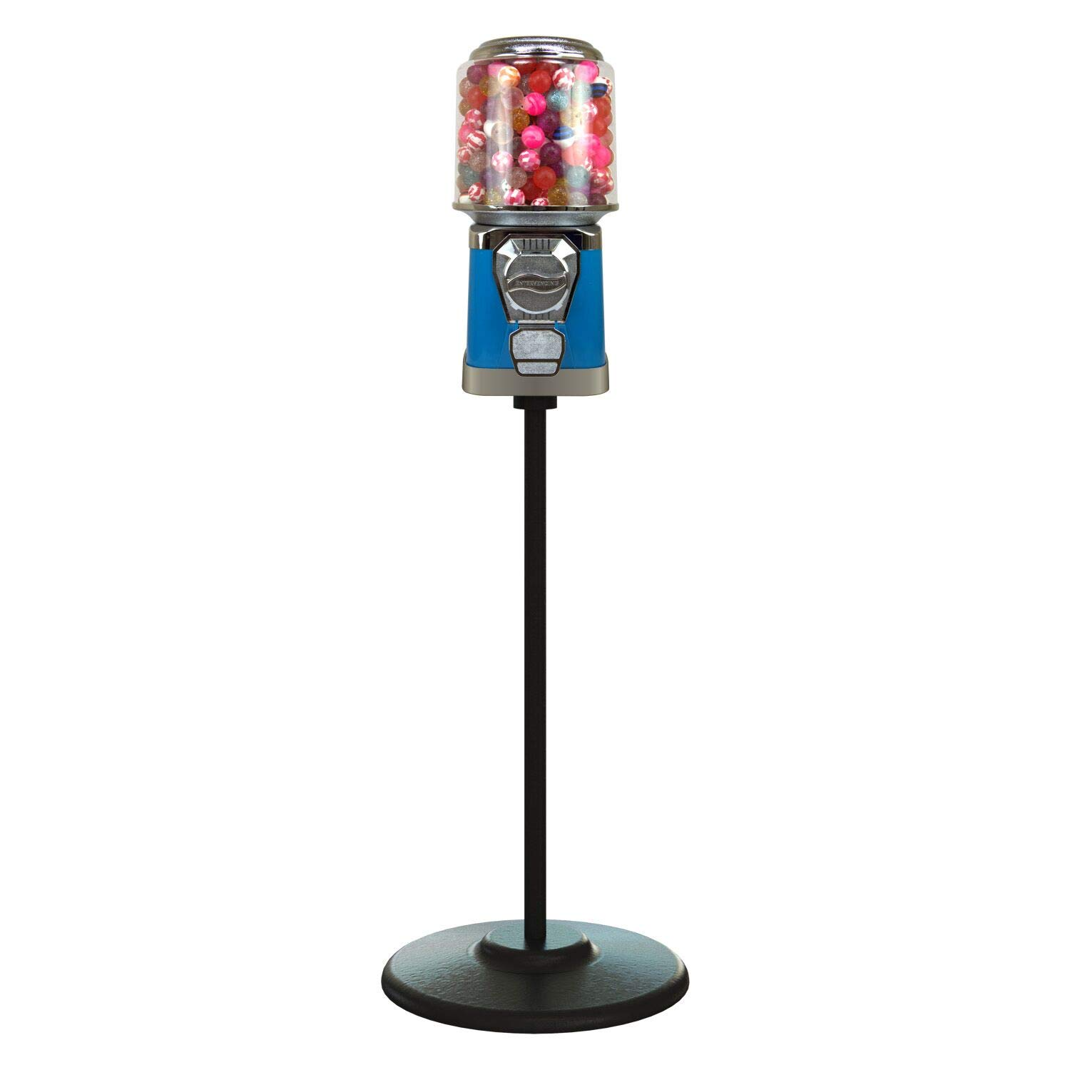Austin Mall Gumball Machine with Stand - Ranking integrated 1st place Home Gum Vending Bal Blue