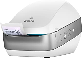 Dymo LabelWriter Wireless Label Printer with 4 bonus rolls of LW Mailing Address Labels, White, 1-1/8'' x 3-1/2'', 4 rolls of 350