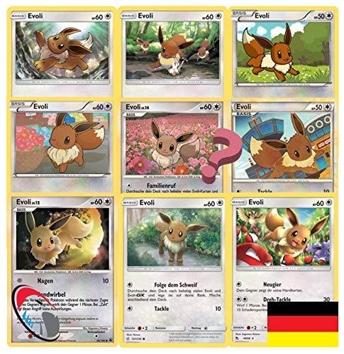 Pokemon Karten Evoli Sparpaket 9 Pokemon inkl. Reverse (zufällig ausgewählt) - Deutsch - Cardicuno