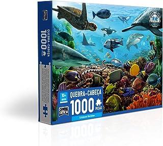 Criaturas Marinhas - Quebra cabeça 1.000 peças, Toyster Brinquedos