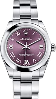 OYSTER PERPETUAL 31 Red Grape Roman Dial Steel Ladies Watch 177200