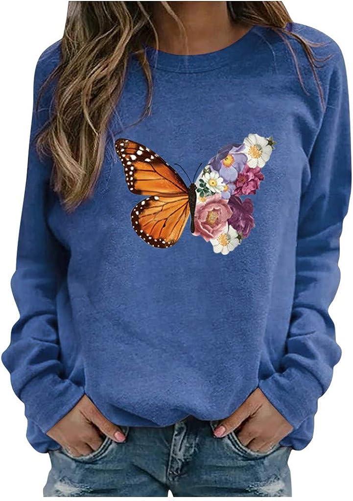Eoailr Sweatshirt for Women Long Sleeve Neck Max 71% OFF Tu gift Crew
