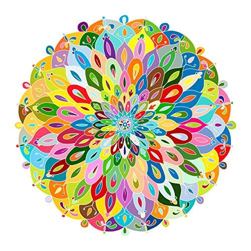 cnmd Puzzle-Blooming Color-1000 Piezas Color Challenge Tablero Azul Rompecabezas Runde