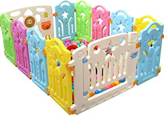 Baby Playpen Safety Fence Hearth Gate - Children's Activity Center Secure Game Bed, Indoor and Outdoor