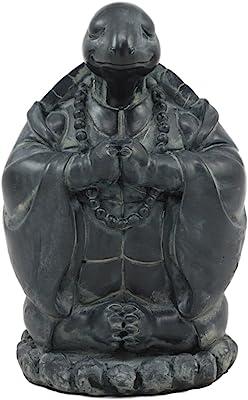 Feng Shui Buddha Turtle Chanting Mantra Decorative Talisman Figurine 5.75 Tall
