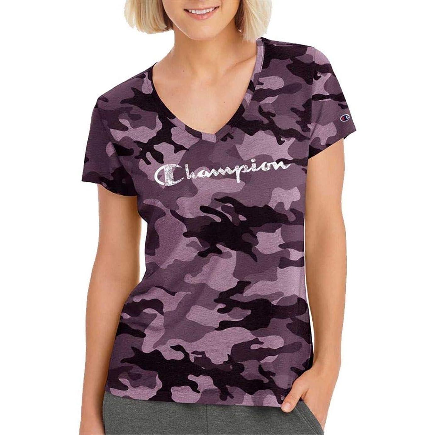 同一の古風な珍味(チャンピオン) Champion レディース トップス Tシャツ Champion Authentic Wash Camo T-Shirt [並行輸入品]