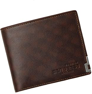 BeniNew men's short wallet casual wallet large capacity multi-function-Free buckle