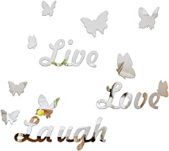 CUNYA Large 3D Mirror Room Decor Stickers, DIY Love Live Laugh Letters and Butterfly Composed Wall Art Decals Acrylic Home...
