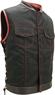 HILLSIDE USA LEATHER INC. SOA Style Side Lace (Cordura - Military Grade Fabric) Black/RED