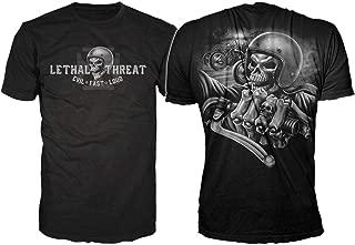 Lethal Threat (LT20249XXXL Men's LT Skull Crew T-Shirt (Black, XXX-Large)