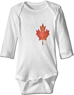 XHX Baby's Canada Maple Leaf Long Sleeve Romper Onesie Bodysuit Jumpsuit