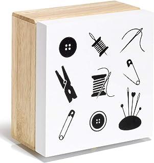 علبة خرز متنوعة من برام مصنوعة من الخشب، متعددة الألوان، مقاس واحد
