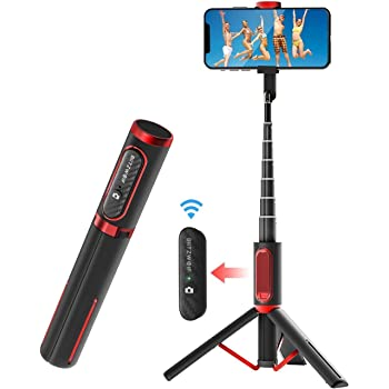Selfie Stick Tripod, BlitzWolf Lightweight Aluminum All in One Extendable Phone Tripod Selfie Stick Bluetooth with Remote for iPhone 11 Pro/XS MAX/XS/XR/X/8 Plus/7 Plus/6S, Galaxy S10/S9/S9 Plus, More