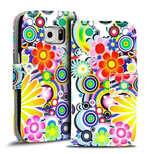 Verco Custodia a Libro Cover per Il Samsung Galaxy S6 Edge Book Cover Flip Caso Wallet Case per Galaxy S6 Edge