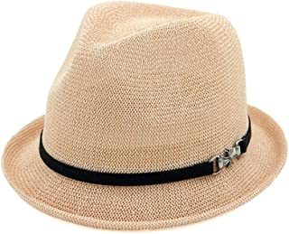 SHENTIANWEI Spring Summer Ladies Straw Hat Jazz Hat Sunscreen Straw Hat Curling Small Hat Lovers Sun Hat*