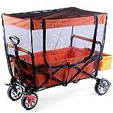 FUXTEC Sonnenschutz Fliegennetz Fliegengitter Moskitonetz Mückenschutz für Bollerwagen CT500